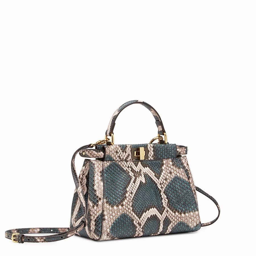 FENDI MINI PEEKABOO - Two-tone python handbag - view 2 detail