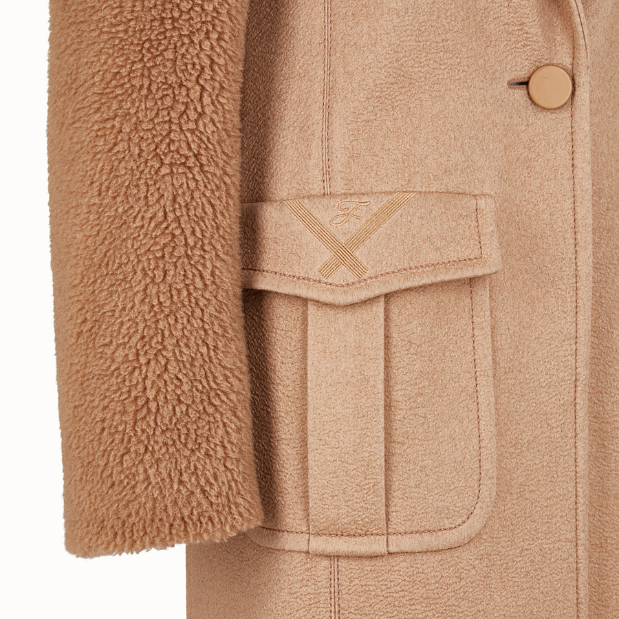 FENDI MANTEAU LONG - Manteau en chameau marron - view 3 detail
