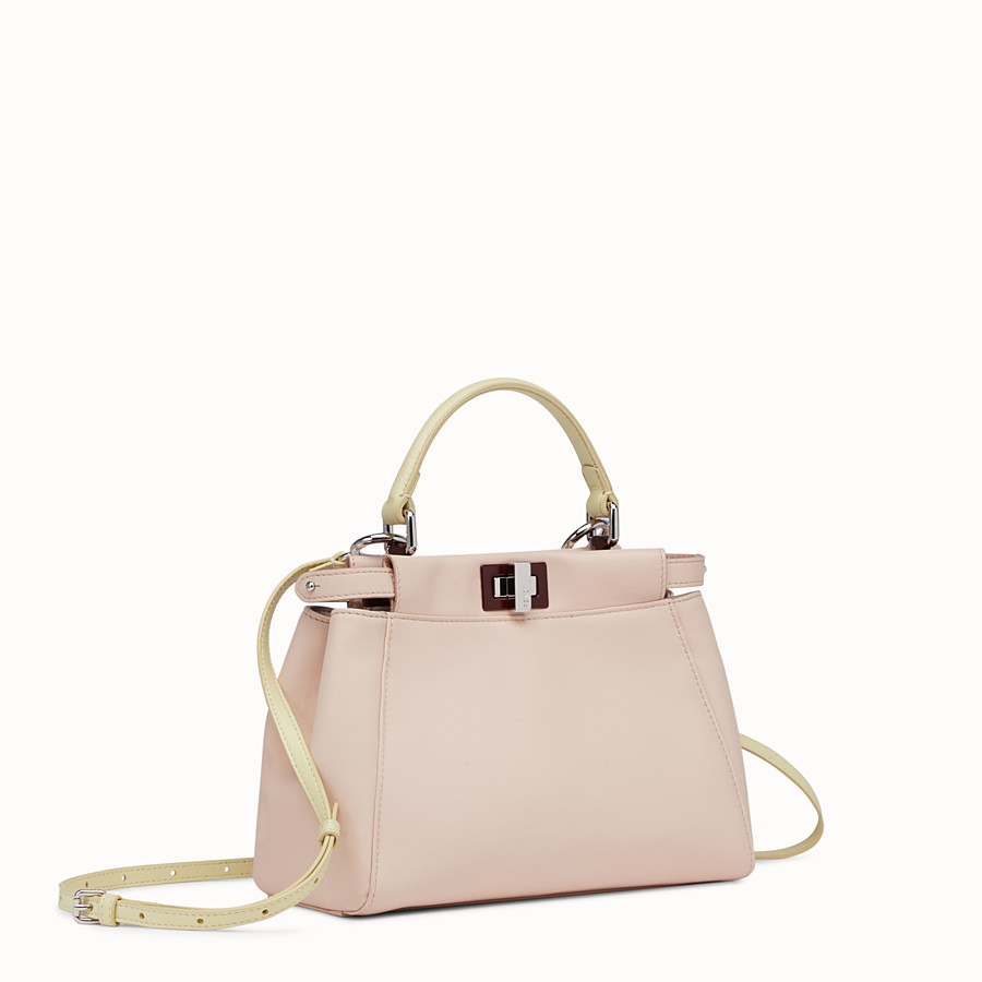 FENDI PEEKABOO MINI - handbag in pink nappa - view 2 detail