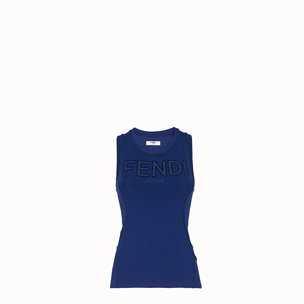 FENDI TANK TOP - Blue fabric top - view 1 small thumbnail