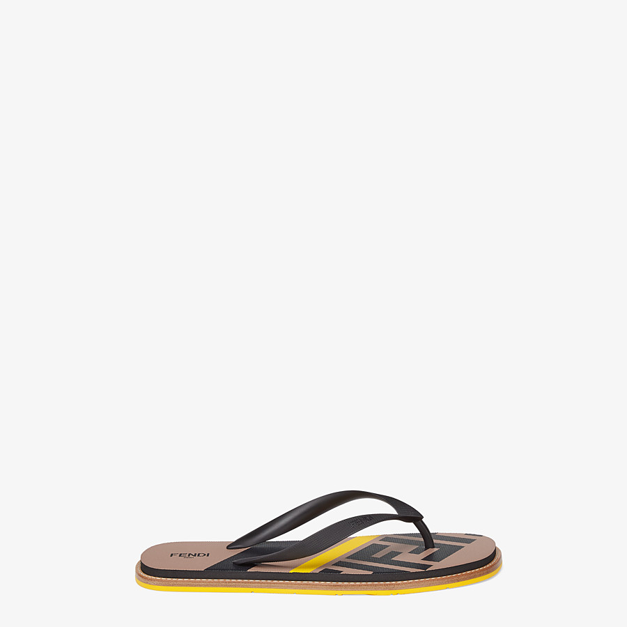 FENDI SANDALS - Black rubber slides - view 1 detail