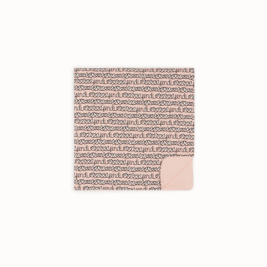 FENDI BABY BLANKET - Pink cotton blanket - view 2 detail