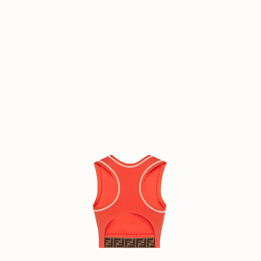 FENDI SPORTS TOP - Orange fabric fitness knit - view 2 detail