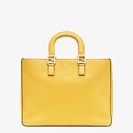 FENDI FF TOTE MEDIUM - Yellow leather bag - view 1 thumbnail