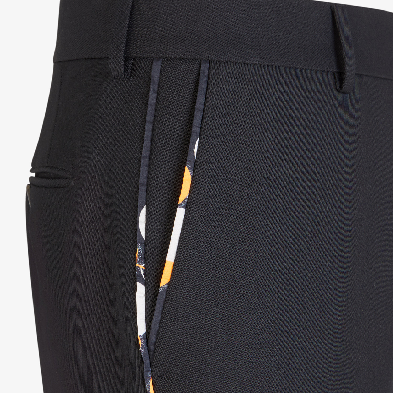 FENDI TROUSERS - Black wool trousers - view 3 detail