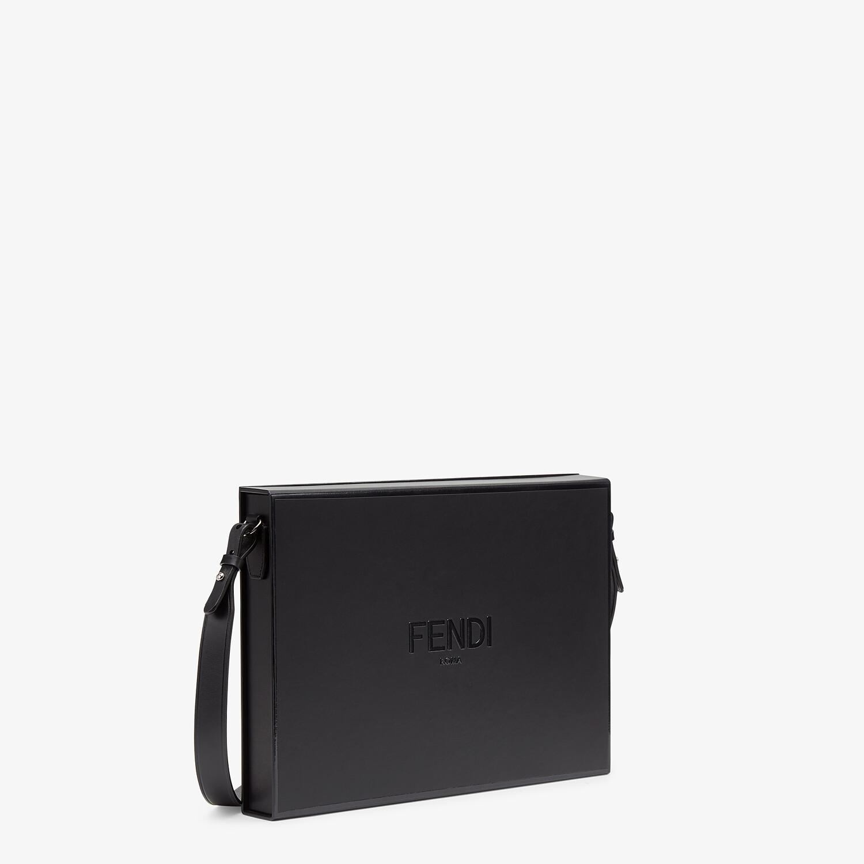 FENDI MESSENGER BOX - Black leather bag - view 2 detail