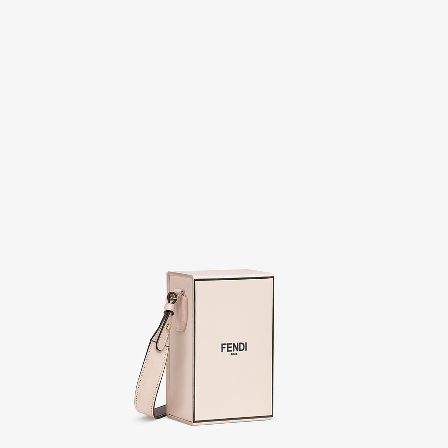 FENDI VERTICAL BOX - Tasche aus Leder in Rosa - view 3 detail