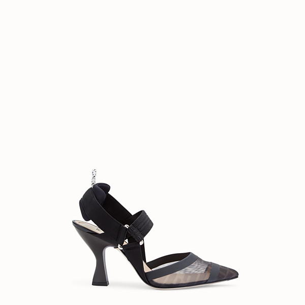 FENDI SLINGBACK - Colibrì en filet et cuir noir - view 1 small thumbnail