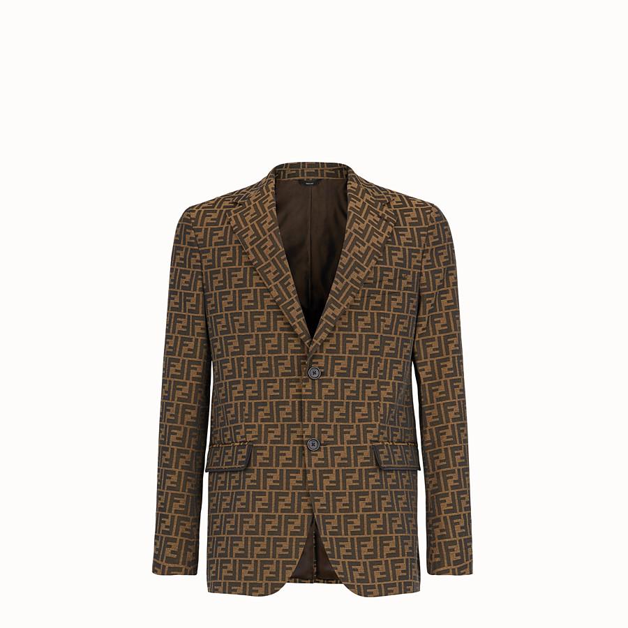 FENDI JACKET - Brown fabric blazer - view 1 detail