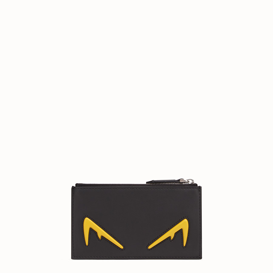 FENDI COIN PURSE - Black leather coin purse - view 1 detail