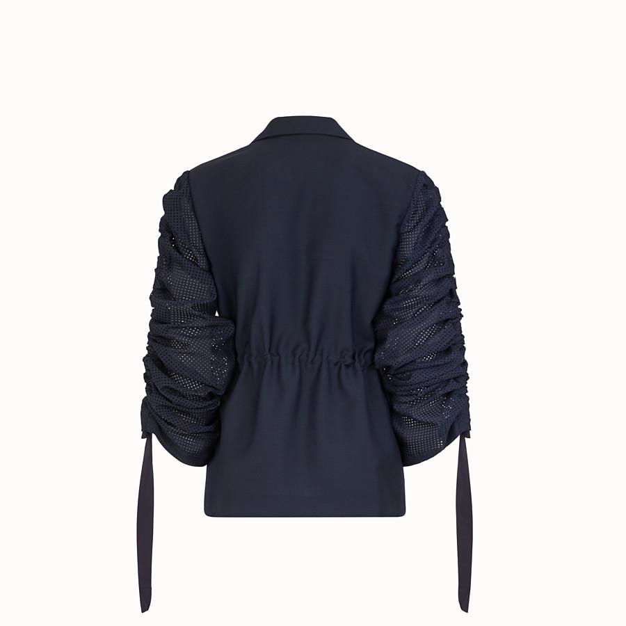 FENDI VESTE - Blazer en mohair bleu - view 2 detail
