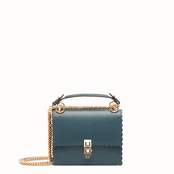 FENDI KAN I SMALL - Green leather mini-bag - view 1 small thumbnail