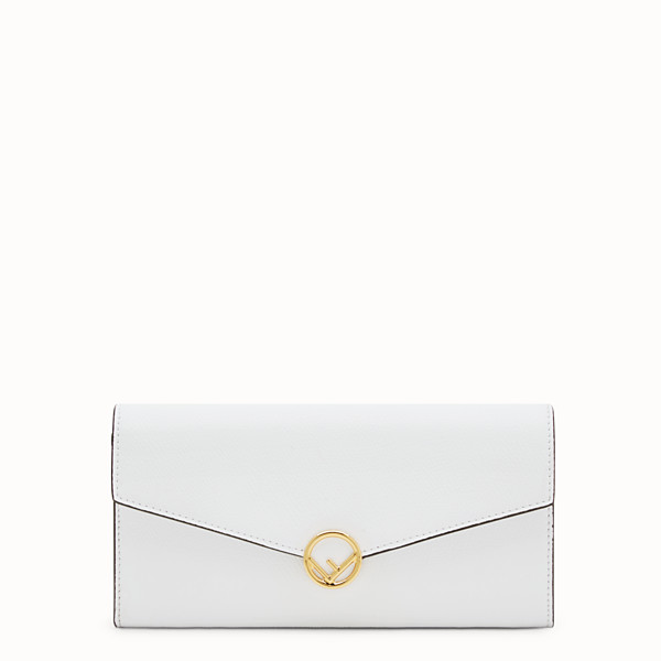 FENDI CONTINENTAL WITH CHAIN - White leather wallet - view 1 small thumbnail