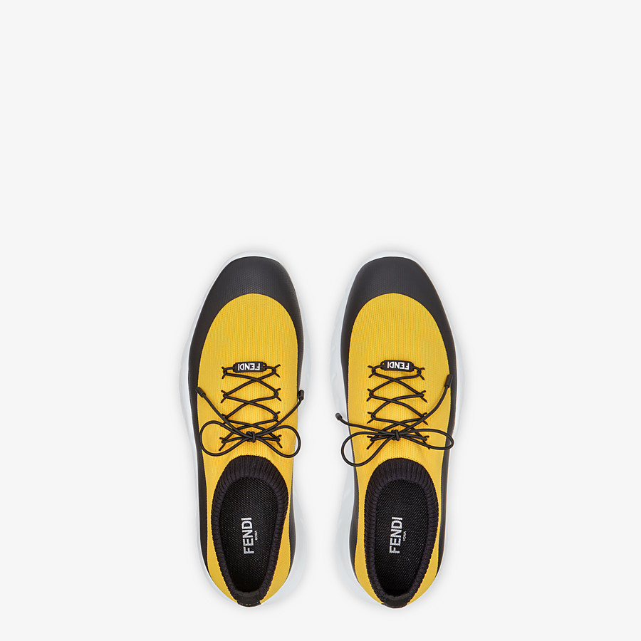FENDI SNEAKERS - Yellow tech fabric low top - view 4 detail