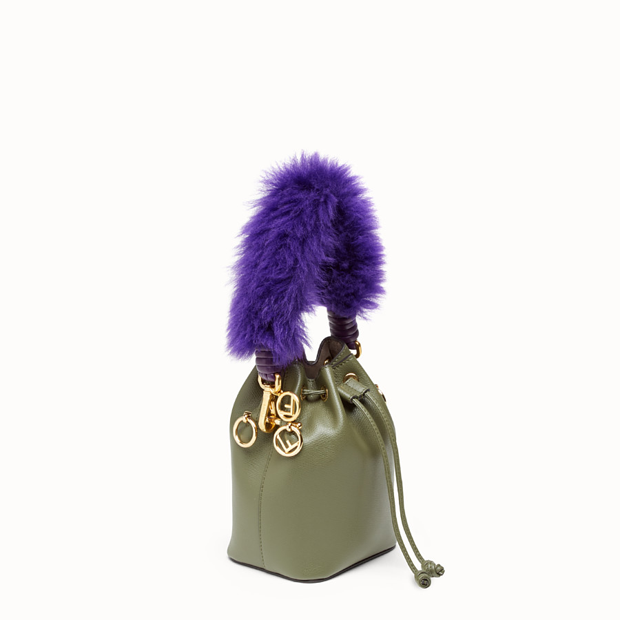 FENDI MINI STRAP YOU - Purple sheepskin shoulder strap - view 2 detail
