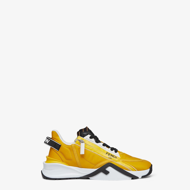 FENDI SNEAKERS - Yellow nylon low tops - view 1 detail