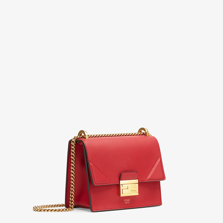 FENDI KAN U SMALL - Red leather mini-bag - view 3 detail