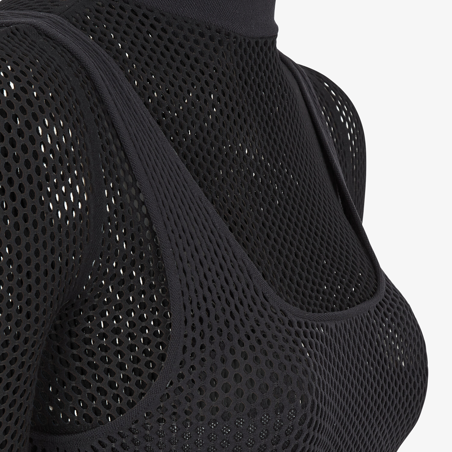 FENDI BODYSUIT - Black mesh body - view 3 detail
