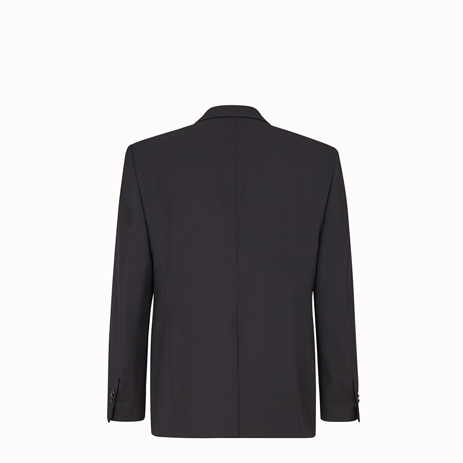 FENDI GIACCA - Blazer in lana nera - vista 2 dettaglio
