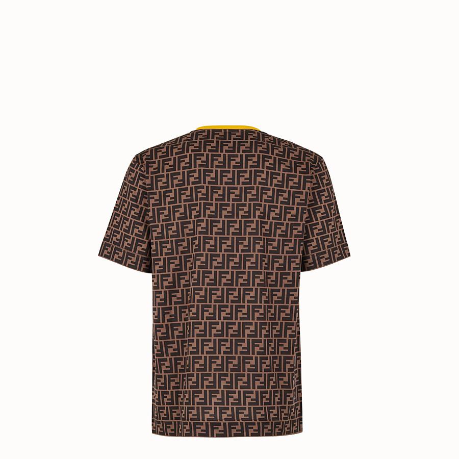 FENDI T-SHIRT - T-Shirt aus Baumwolle in Braun - view 2 detail