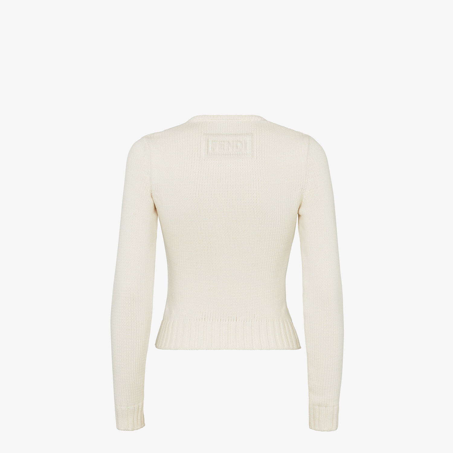 FENDI SWEATER - White cotton sweater - view 2 detail