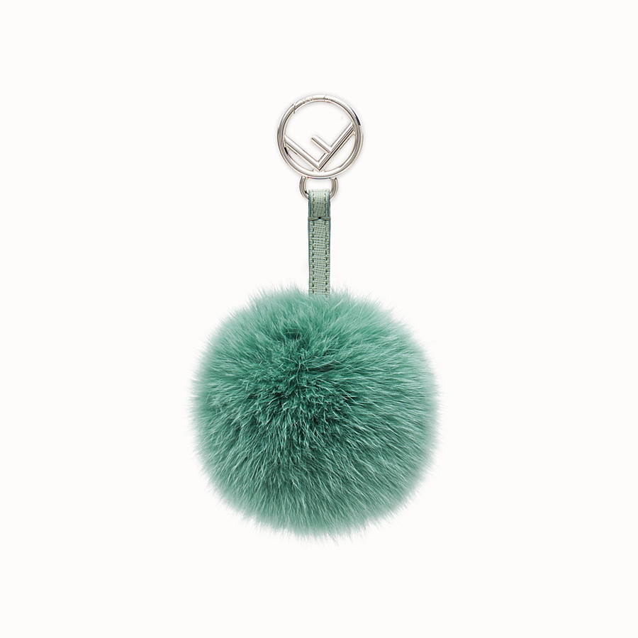 FENDI POM-POM CHARM - seafoam green fur - view 1 detail