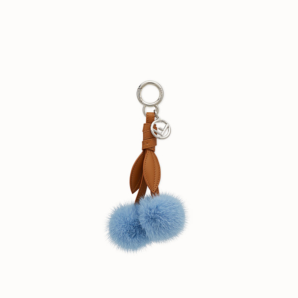 FENDI CHERRY CHARM - Charm in light blue mink fur - view 1 small thumbnail
