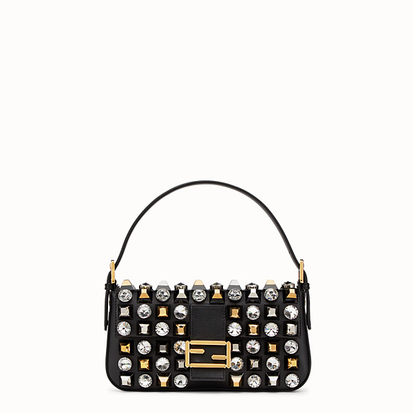 FENDI BAGUETTE - leather shoulder bag with studs and rhinestones - view 1 small thumbnail