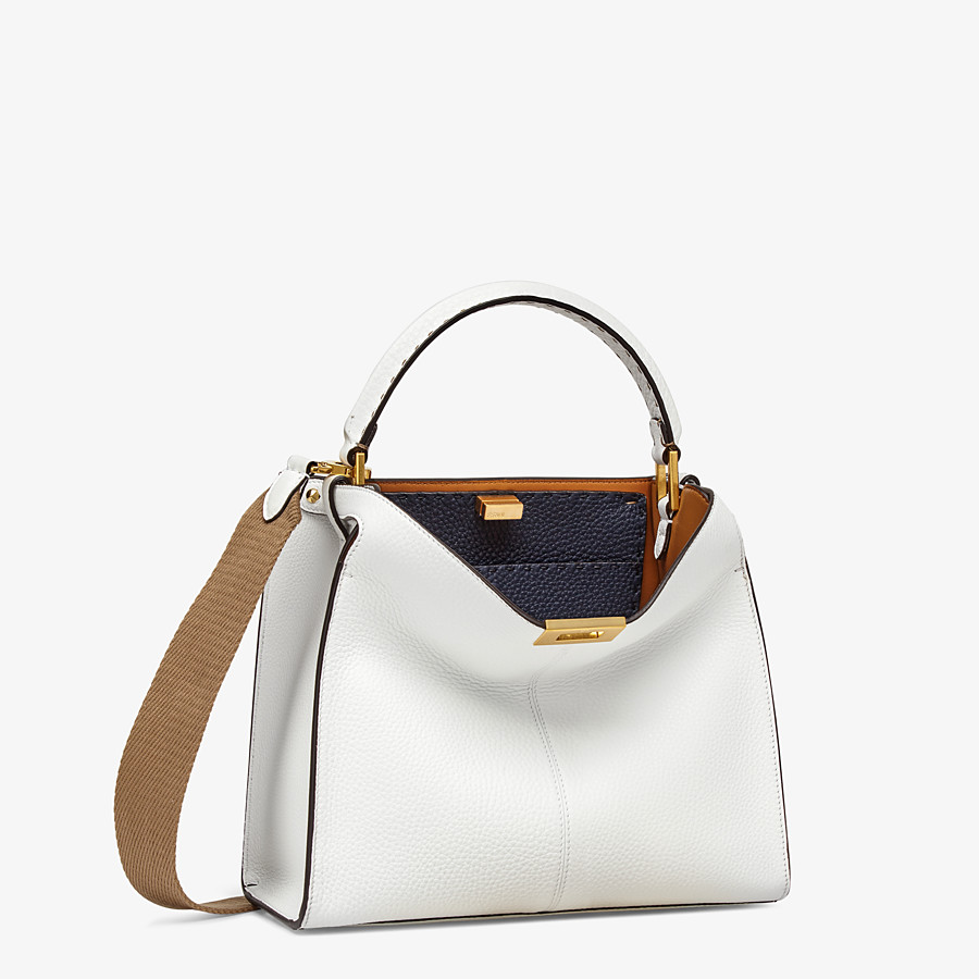 FENDI PEEKABOO X-LITE MEDIUM - White leather bag - view 3 detail