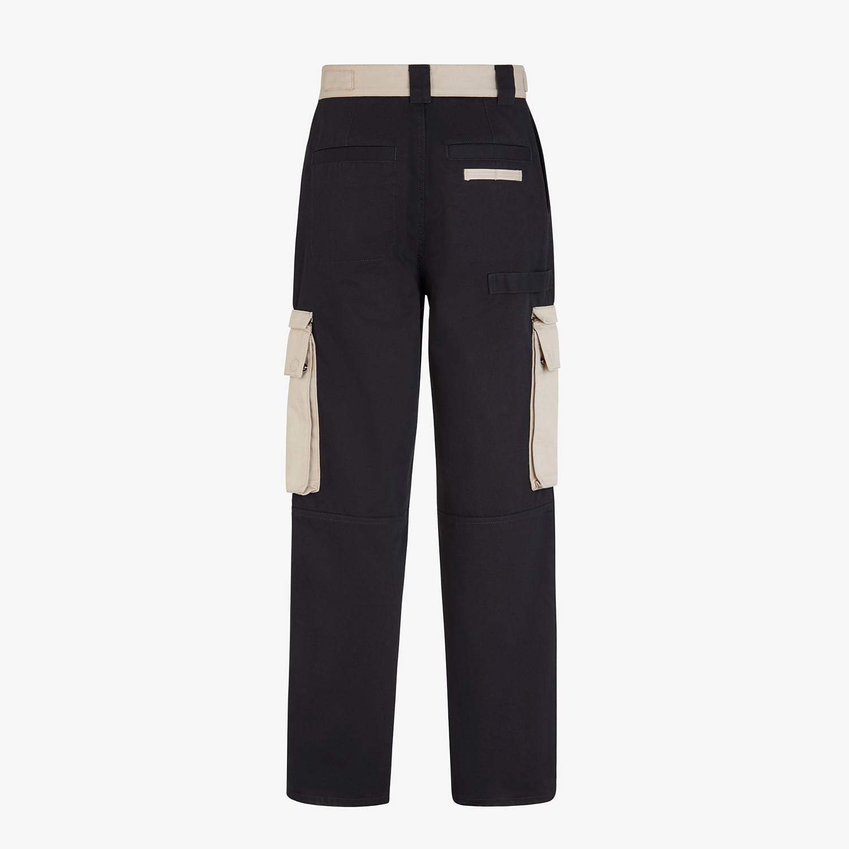 FENDI TROUSERS - Multicolour gabardine trousers - view 2 detail