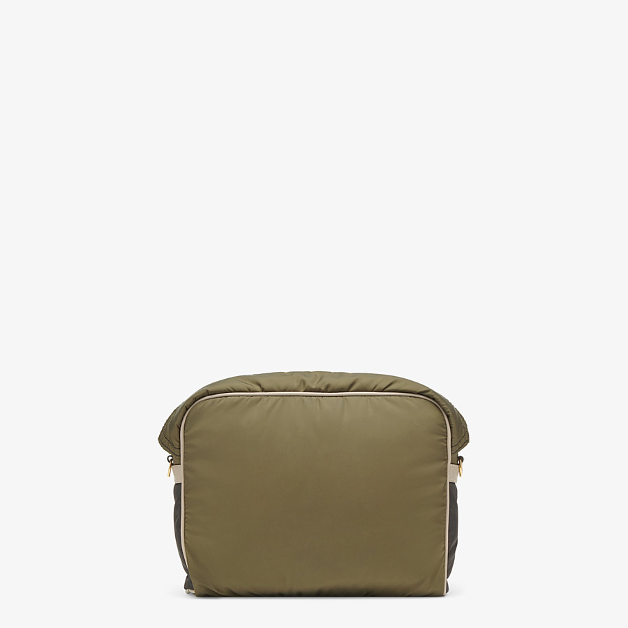 FENDI MESSENGER - Green nylon bag - view 4 detail