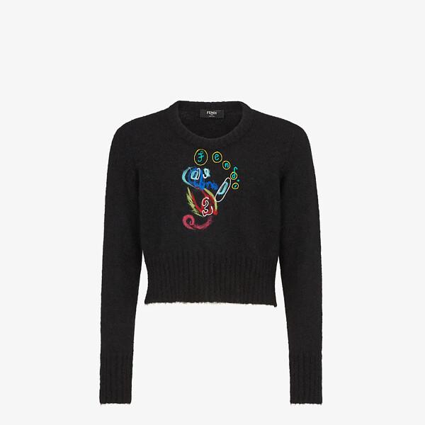 Black mohair jumper
