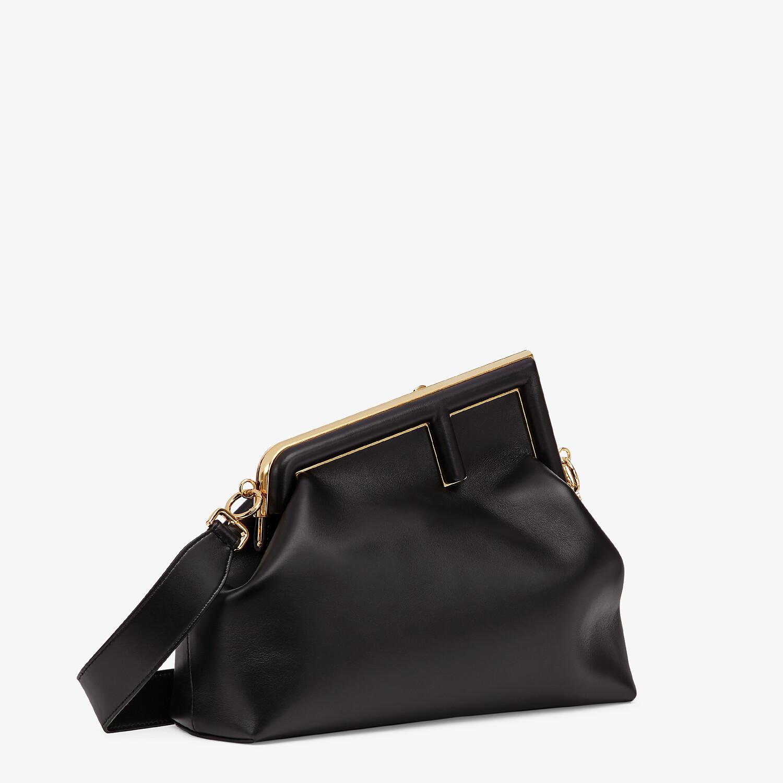 FENDI FENDI FIRST MEDIUM - Black leather bag - view 3 detail