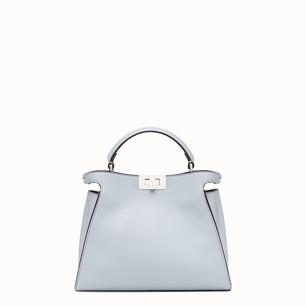 FENDI PEEKABOO ESSENTIAL - Light blue leather bag - view 1 small thumbnail