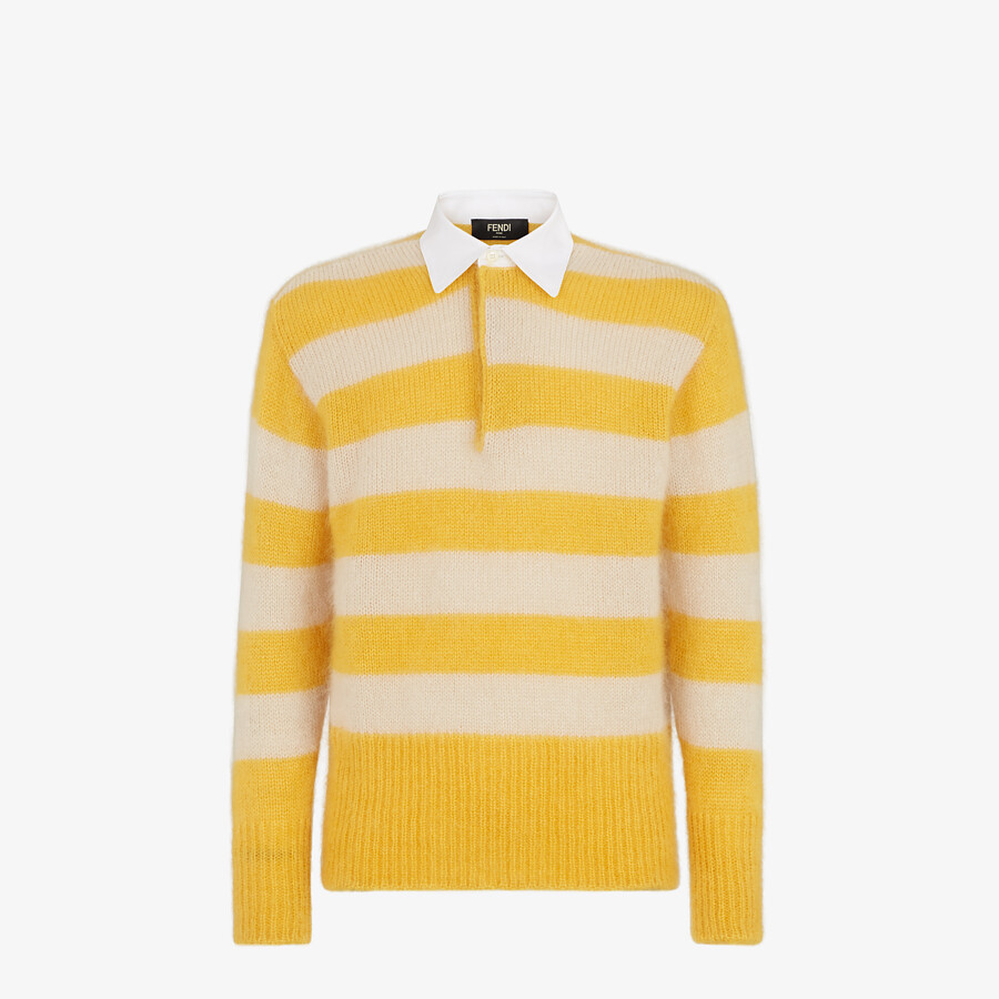 FENDI PULLOVER - Multicolor mohair and wool pullover - view 1 detail