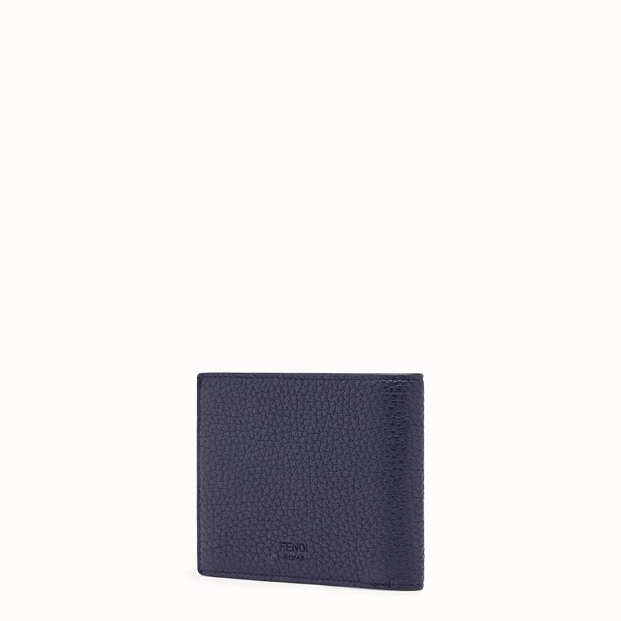 FENDI WALLET - Blue Romano leather bi-fold wallet - view 2 detail