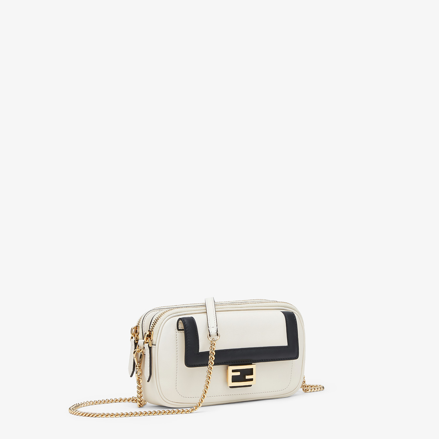 FENDI EASY 2 BAGUETTE - White leather mini bag - view 3 detail