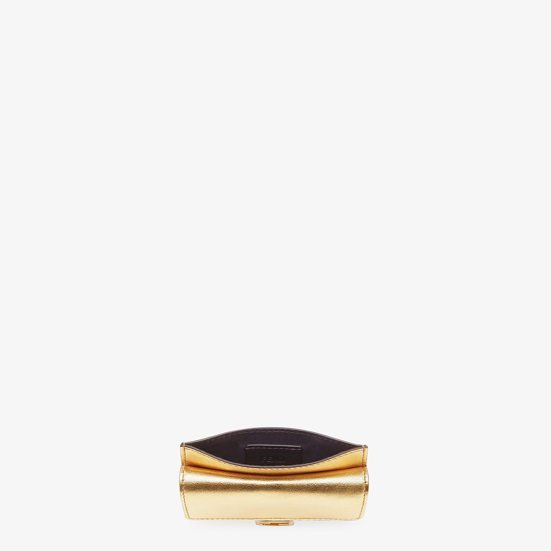 FENDI CARD HOLDER - Gold leather card holder - view 4 detail