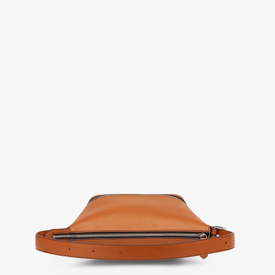 FENDI BELT BAG - Brown leather belt bag - view 4 detail