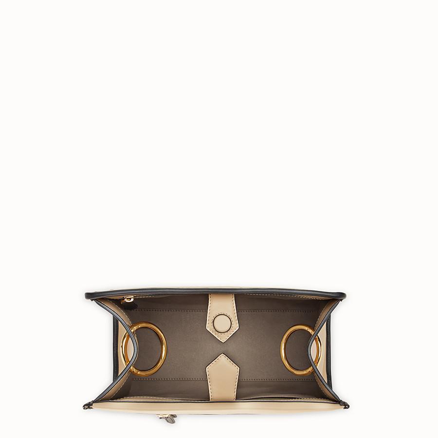 FENDI RUNAWAY SMALL - Beige leather bag - view 4 detail