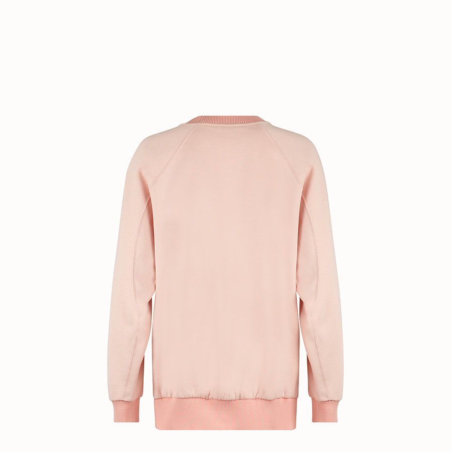 FENDI SWEATSHIRT - Pink cotton sweatshirt - view 2 detail