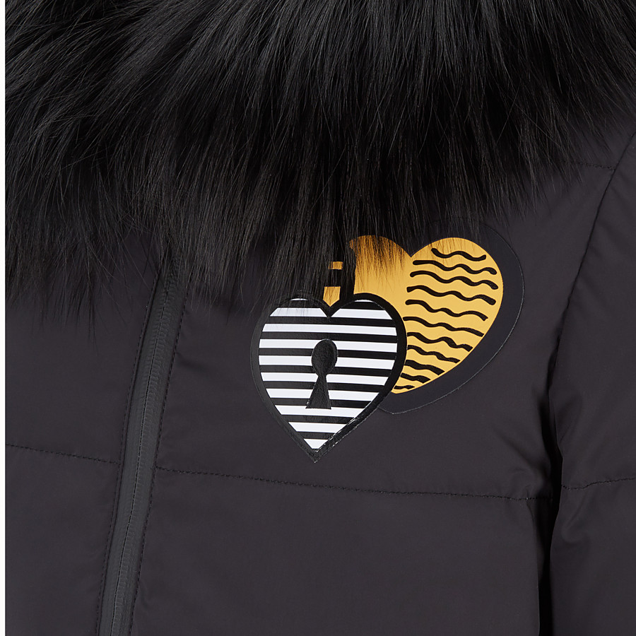 FENDI DOWN JACKET - Black tech fabric down jacket - view 3 detail