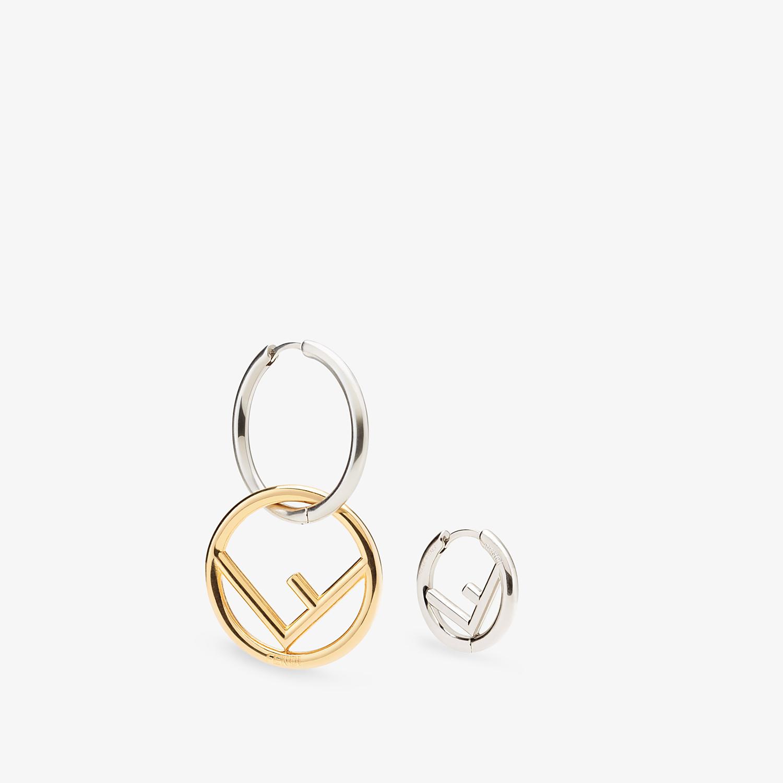 FENDI F IS FENDI EARRINGS - Silver-colored earring - view 3 detail