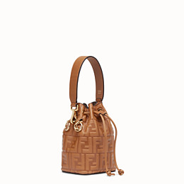FENDI MON TRESOR - Brown leather mini-bag - view 3 thumbnail
