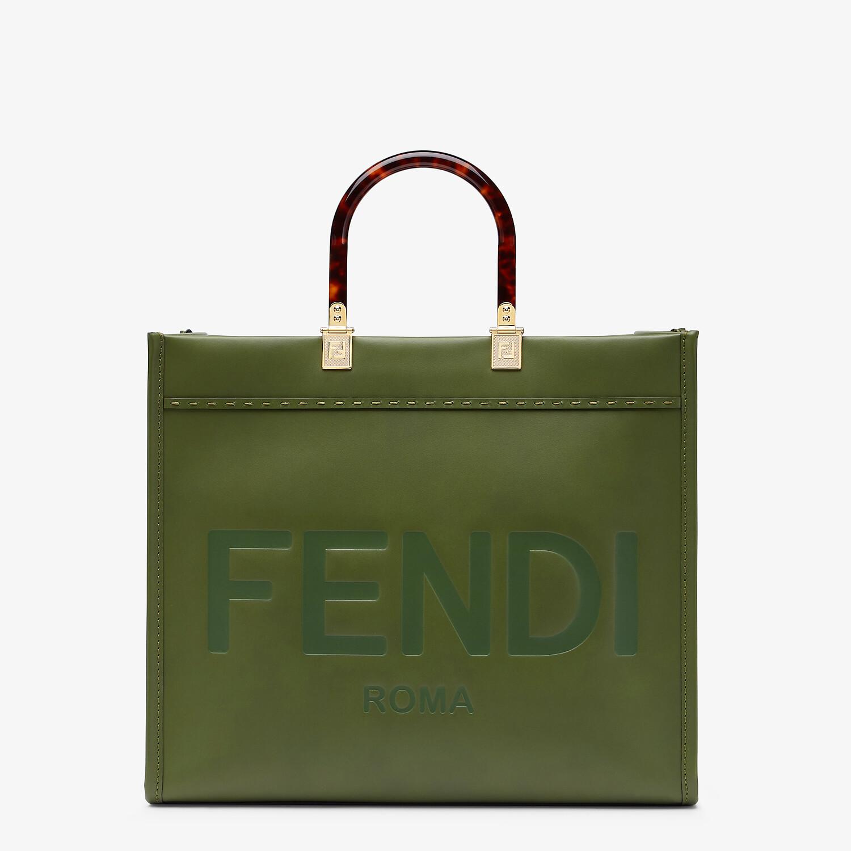 FENDI FENDI SUNSHINE MEDIUM - Green leather bag - view 1 detail
