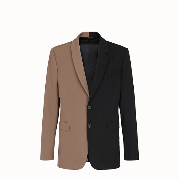 FENDI JACKET - Black gabardine blazer - view 1 small thumbnail