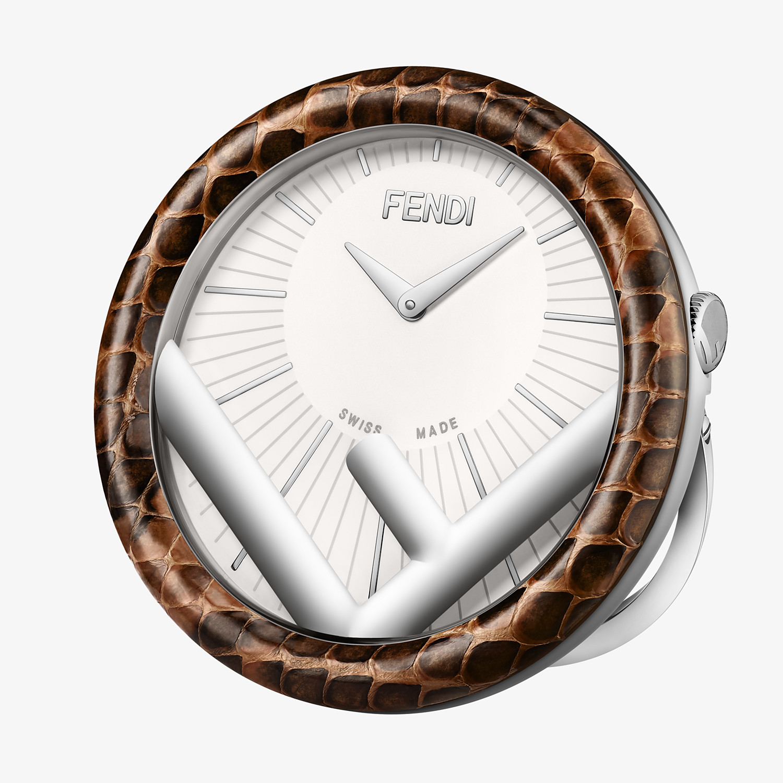 FENDI RUN AWAY TABLE CLOCK - 60 mm - Table Clock with F is Fendi logo - view 1 detail