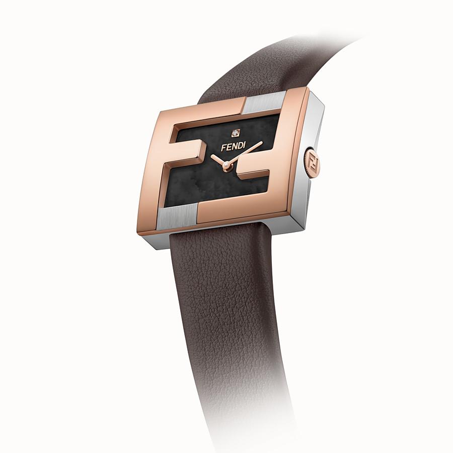 FENDI FENDIMANIA - 24x20mm– Uhr mit eingesetztem Logo FF - view 3 detail
