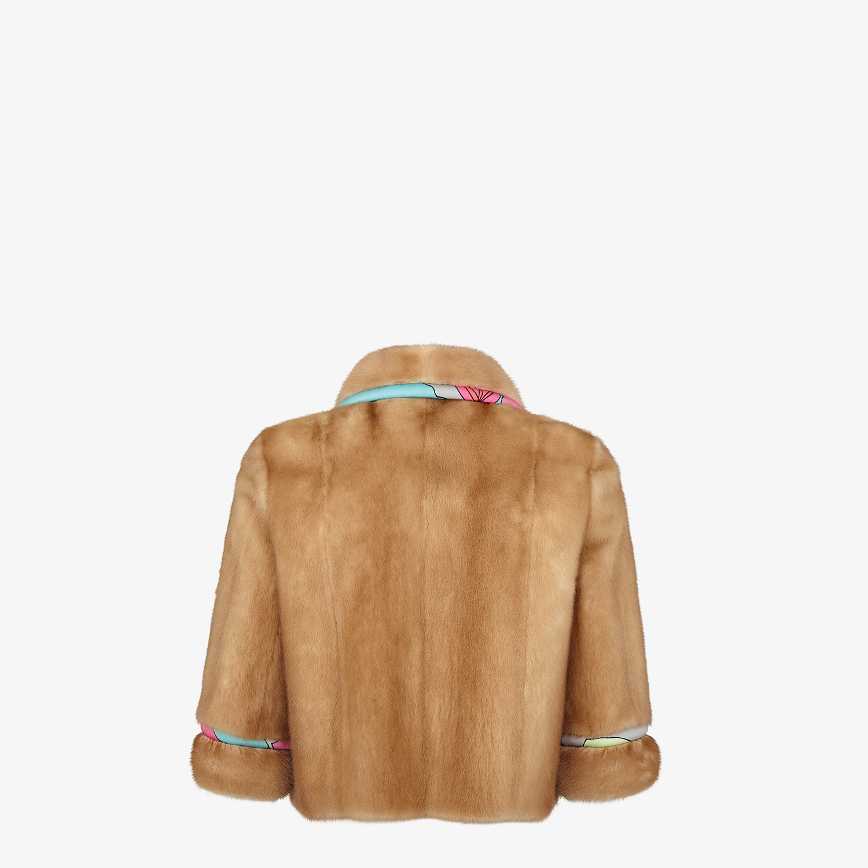FENDI JACKET - Mink and floral Lycra® jacket - view 2 detail