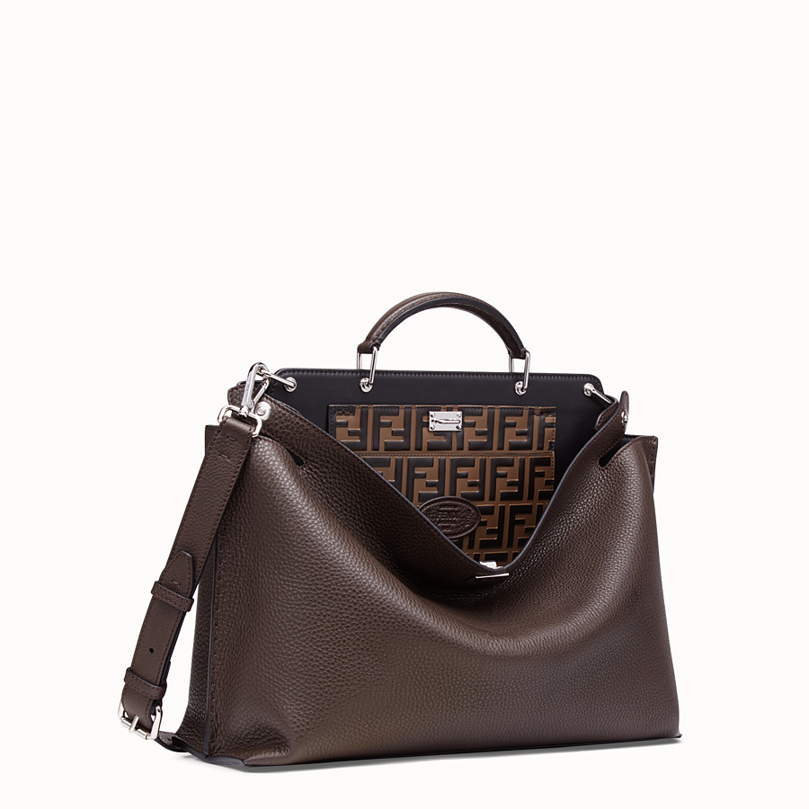 FENDI PEEKABOO ICONIC ESSENTIAL - Brown calf leather bag - view 2 detail